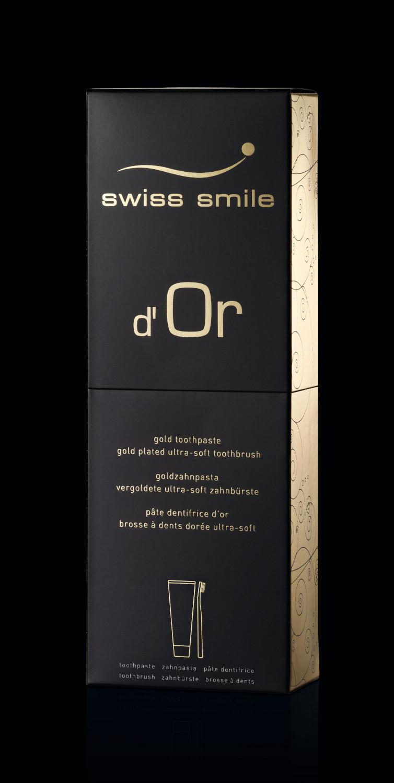 negru D'or gel dentar fara fluor si periuta de dinti