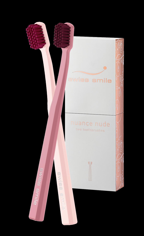 Nuance nude periuta de dinti roz