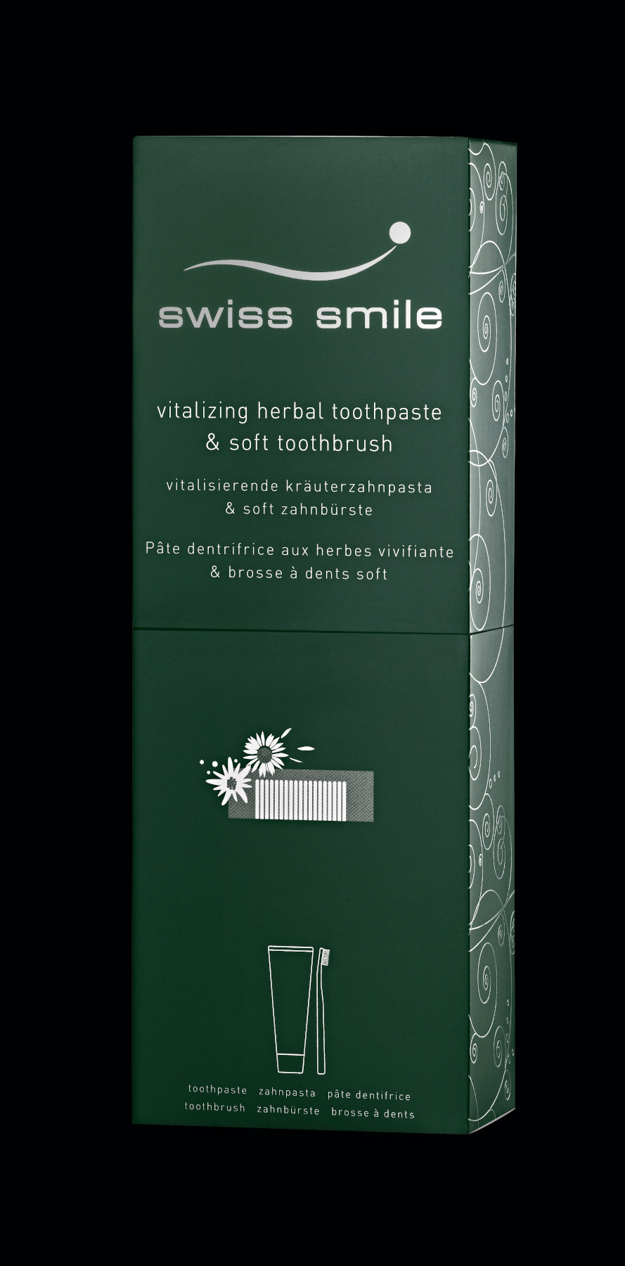 negru Herbal bliss pasta de dinti si periuta de dinti