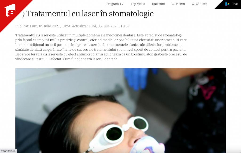 Tratamentul cu laser în stomatologie