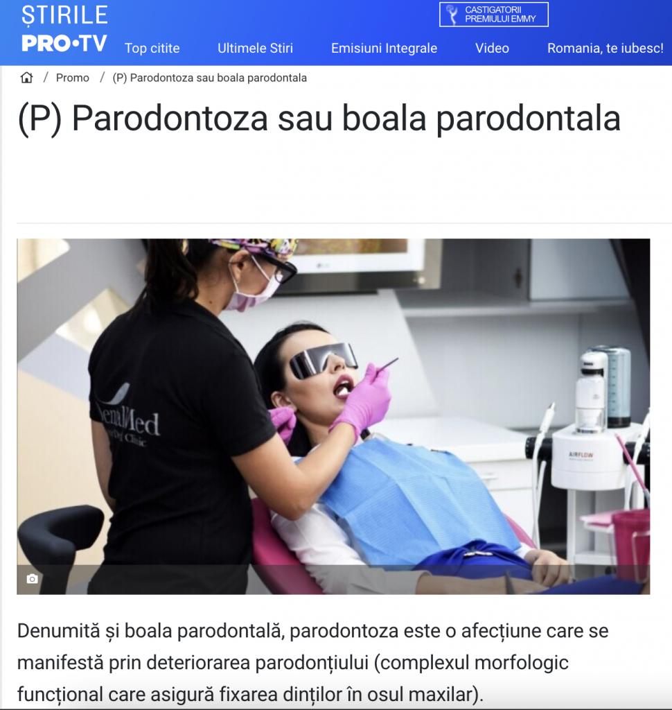 Parodontoza sau boala parodontala