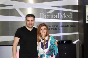 Bianca Adam aka Tequila at DentalMed with dr. Dragos Popescu