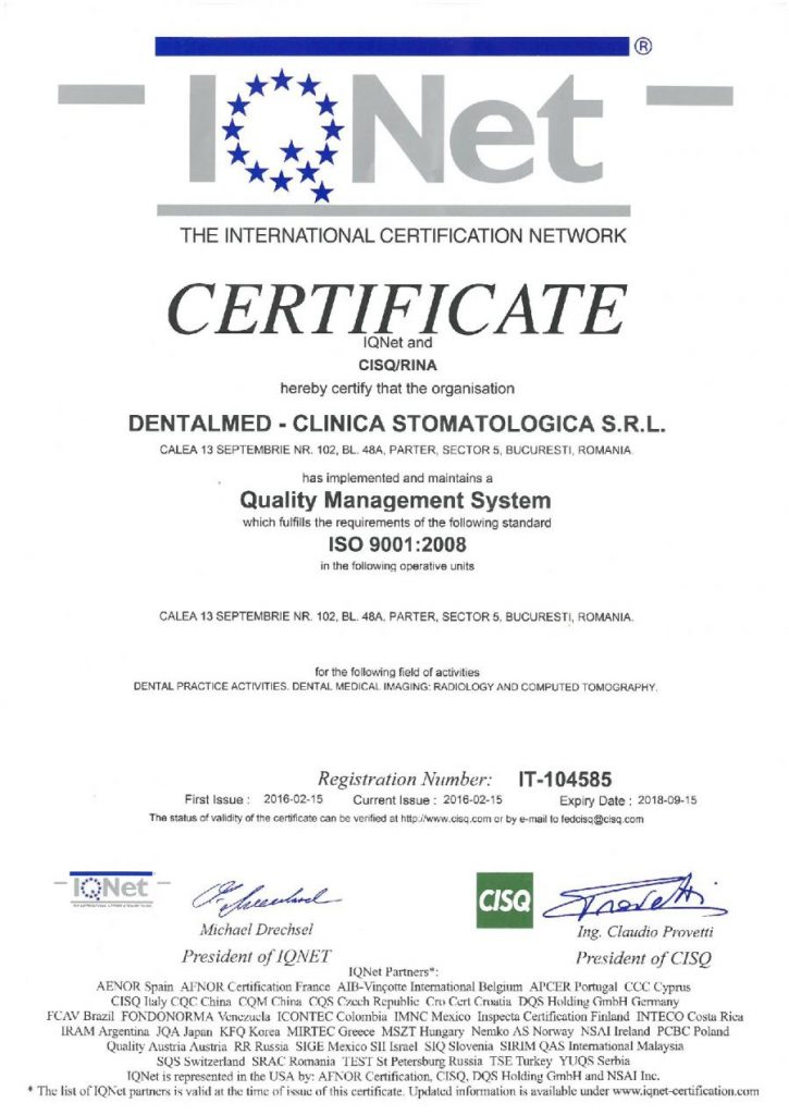ISO 9001 DentalMed Certification